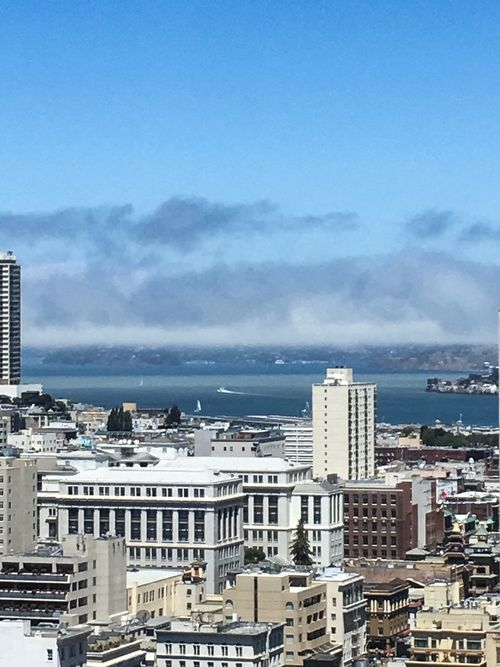 A distant view of The Rock. San Francisco California Downtown San Francisco