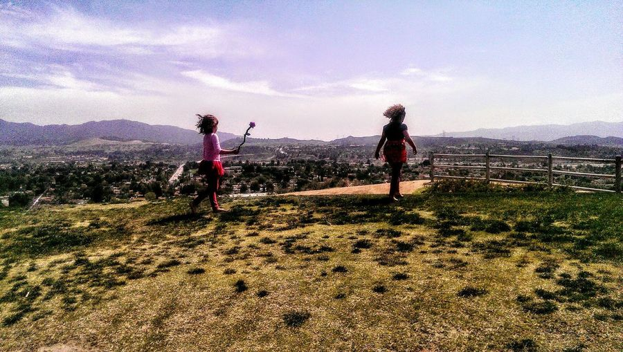 Exploring Park Day Cousins  Walking Rosé Rose Flower Cityscapes On A Hill Finding Inspiration Enjoying The View Grainy Photo Cousin Love Dry Grass Spring Days Beautiful Picture Capture The Moment Peace And Tranquility Here Belongs To Me Photography In Motion People Together People And Places