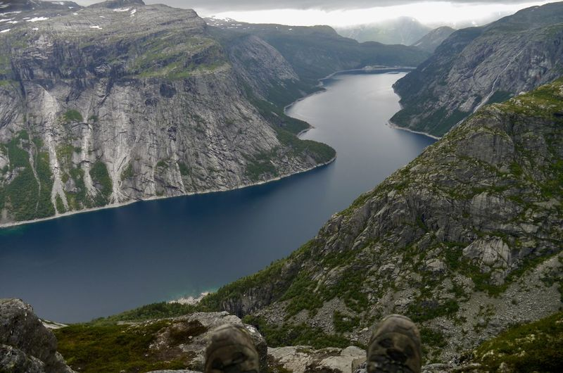 Hiking Norway🇳🇴 Beauty In Nature Hikingboots Mountain Nature Outdoors Scenics Tranquil Scene