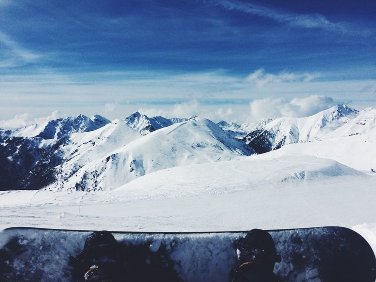 Mountains Snow Snowboarding Snowboard Moments Quiet Moments Peace And Quiet Silence Blue Blue Sky Snowballs