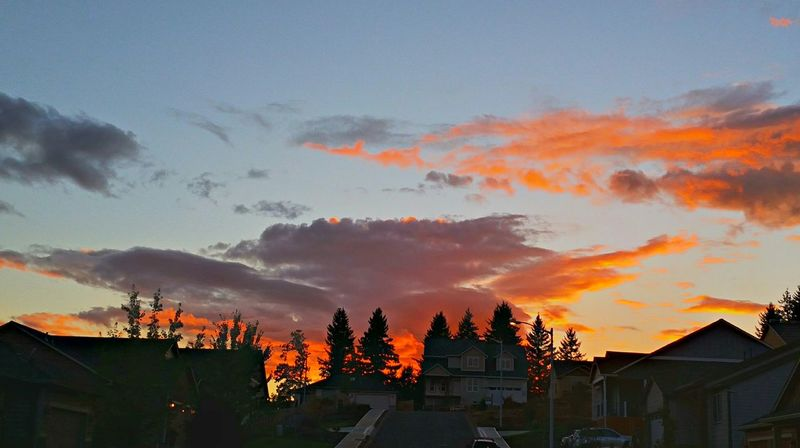 Natural unfiltered view Skyporn Sky And Clouds Sunset Day Is Done Evening Eye4photography  Salem OR