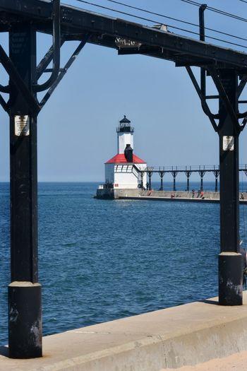 Lake Michigan Lighthouse Lighthouses Michigan City Michigan City Lighthouse Architecture Built Structure Lighthouses Of Lake Michigan Sky Washington Park Water White Lighthouse