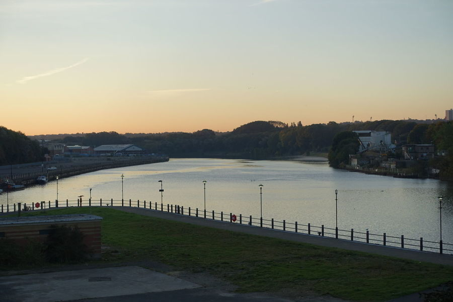 Early Morning Tyne looking East Beauty In Nature Newcastle Upon Tyne Outdoors River Tyne, Sky Sunrise Water