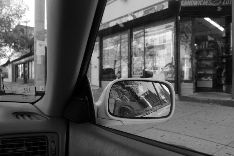 Transportation Car Mode Of Transport Reflection Built Structure City Land Vehicle Day No People Architecture Outdoors Vehicle Mirror Black And White Friday