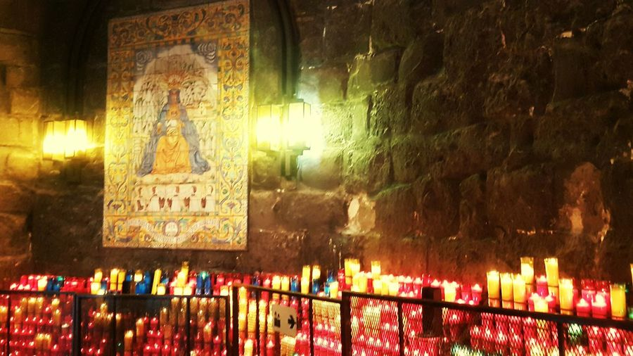 Montserrat Religion Saint Churchart Montserrat Monastery Candles