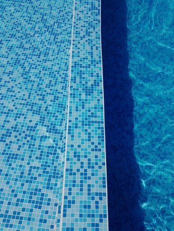 Square lines Water Swimming Pool Backgrounds Full Frame Aerial View Refraction Mosaic Calm Reflection