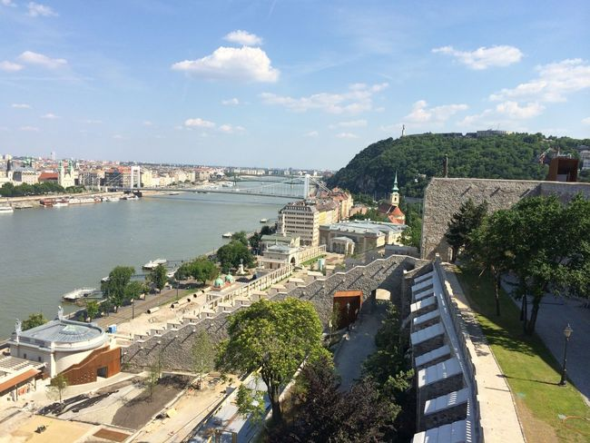 Architecture Budapest City Danube Historical Sights Perspective River Sky And Water