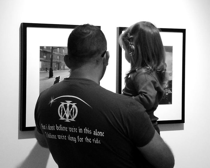 Baby Blackandwhite Photography Child Father And Daughter Photo Exhibition Togetherness Father Love Rear View Adults Only Adult Men Couple - Relationship Indoors  This Is Masculinity