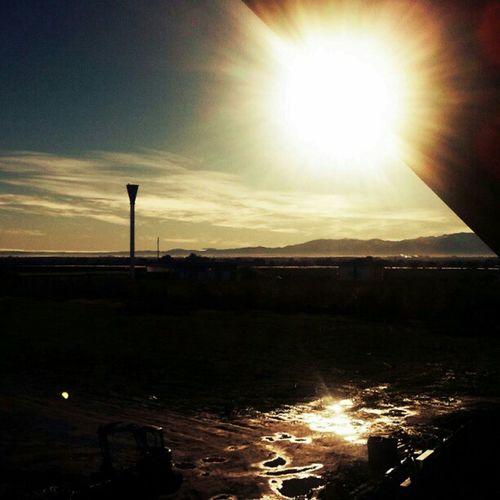 Sta mattina dalla finestra Beautifulitaly Italy Italia Cuneo rain pioggia inverno winter sole sun