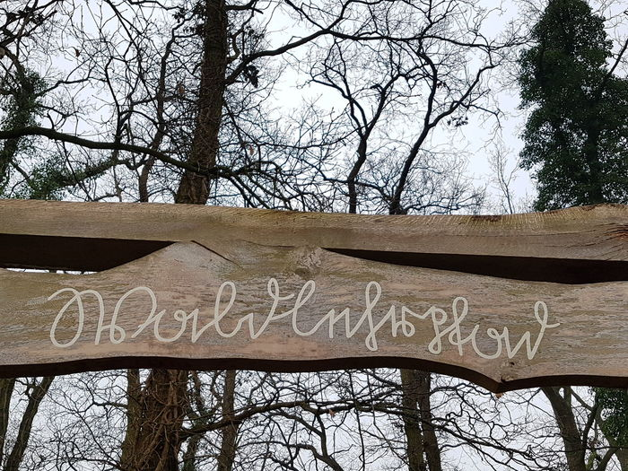 Wooden sign written in Old German Lettering... Able to READ IT? Wooden Sign Post Wooden Sign EyeEm Selects Close-up No Edit/no Filter No Edit Trees In Background Tree Text Communication Day Low Angle View Outdoors No People Nature