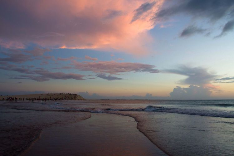 Vanilla Sky Beach After Sunset Reflections Colors Ocean Pink Clouds Jericoacoara - CE