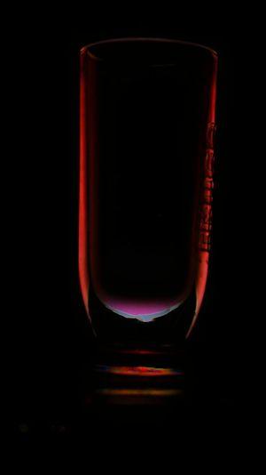 Illuminated Glass Polarized Black Background Alcohol Drinking Glass Drink Studio Shot No People Indoors  Close-up