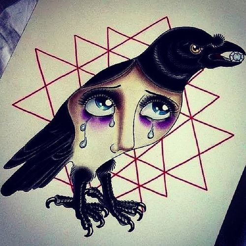 Crow That  Conveys Sadness and interests