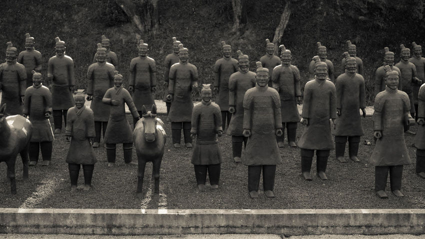 Blackandwhite Buddha Buddha Eden Buddha Statue Ceremony Crowd Full Length Large Group Of People Monochrome Photography Nasmgraphia Outdoors People Terracotta Terracotta Army Terracotta Soldiers Terracotta Warriors Togetherness