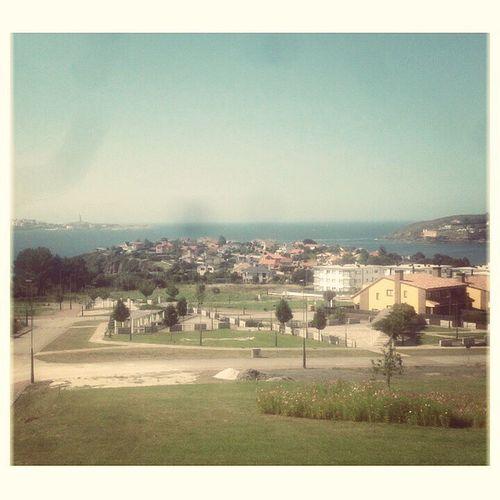Buenas vistas antes de jugar un partido de futsal en Mera! Mera Galicia Sea Summer Blue BonitasVistasDeCoruña TorreDeHercules PeñaEspañolista Partido