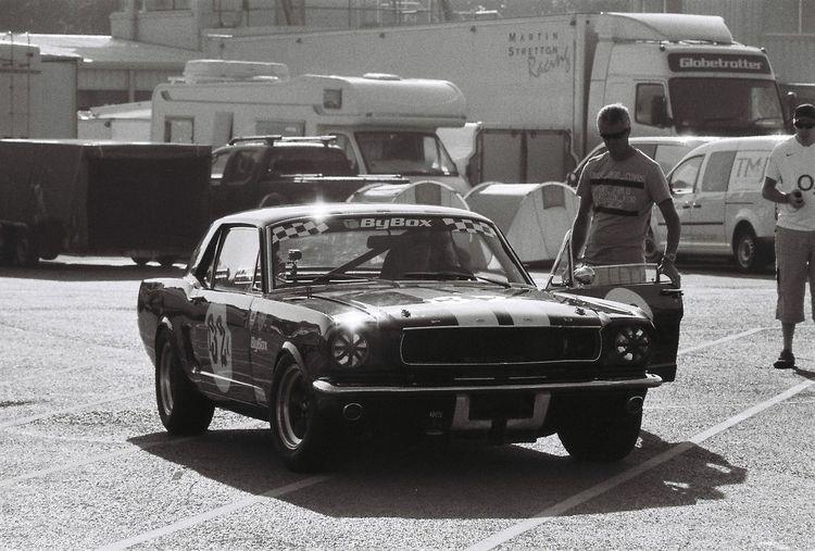 Praktica Taking Photos Oulton Park Ford Mustang