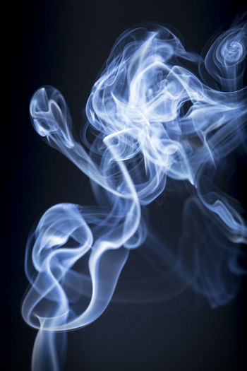 Smoke background Steam Backgrounds Black Background Blue Close-up Motion Smoke - Physical Structure Smooth Texture
