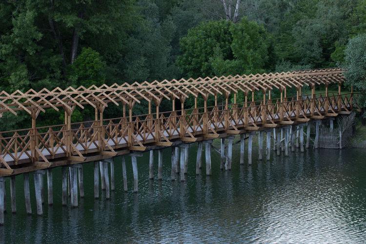 #bridge #Nature  #river #water #Wood Architecture Bridge Bridge - Man Made Structure Day Nature No People Non-urban Scene River Tree Water Waterfront