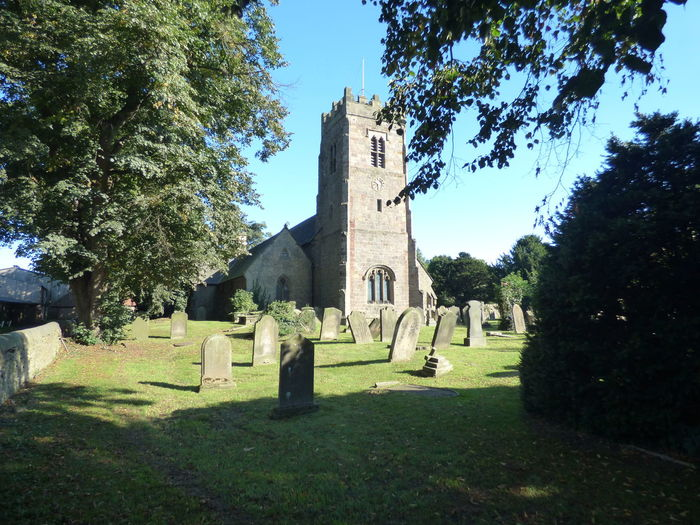 St Mary's Church Bolton on Swale Tranquil Scene Showcase: September Photography Tree Architecture Religion Built Structure Spirituality Building Exterior History Place Of Worship Church Tombstone Cemetery Sunlight Travel Destinations The Past Death Famous Place Place Of Burial Graveyard Outdoors Memorial