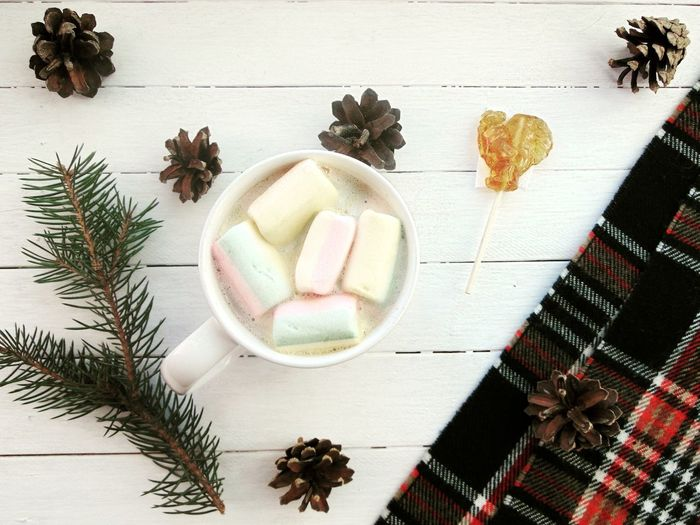 новыйгод 2017 зима какао плед ёлка Marshmallows Winter NewYear Followme