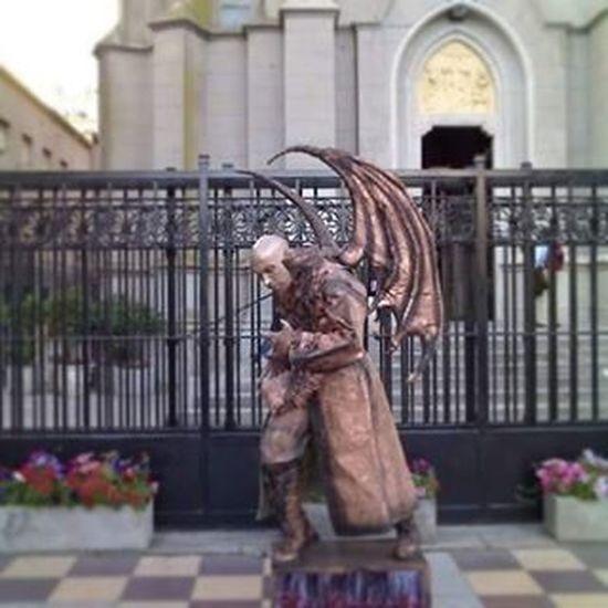 Estatua Viviente en Mar del Plata . Muy Bien Lograda . Excelente  .