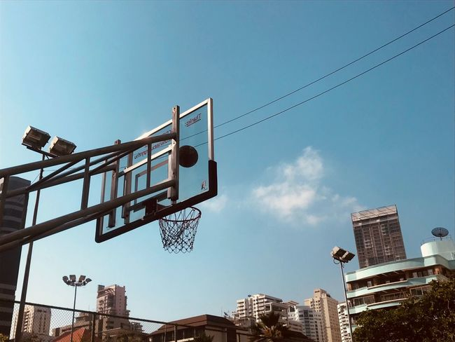 Basketball Court Street Sky Architecture Low Angle View Built Structure Nature Building Exterior Day City Outdoors