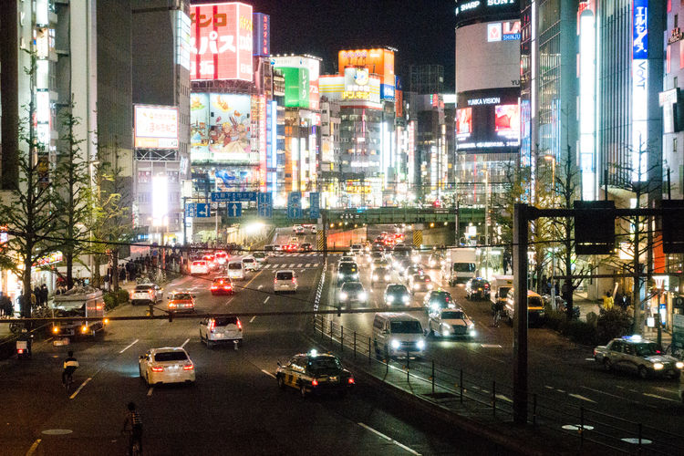 Shinjuku at night Japan Night Lights Night Photography Nightphotography Shinjuku Skyscrapers Tokyo Tokyo Night Traffic Neon Neon Color Neon Lights Neon Sign Night Street Street Photography Streetphotography Adventures In The City