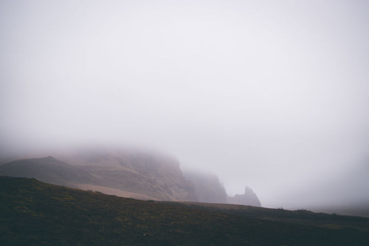 Beauty In Nature Sky Mountain Fog Tranquil Scene Tranquility Nature Copy Space Scenics - Nature Environment Landscape No People Non-urban Scene Day Idyllic Land Outdoors Rock Mountain Peak Climate Formation