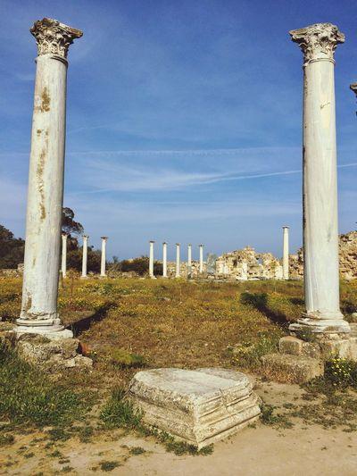 Salamis Harabeleri Magosa famagusta müze Museum tarihi yerler eski eserler Eski Eserler Ve Müzeler