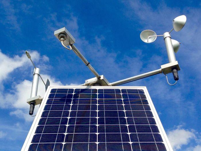 Solar Panels Air Quality Monitoring Site Solar Power