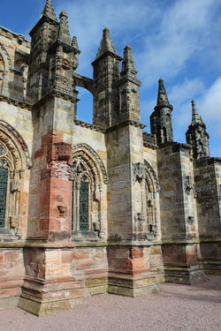 Architecture Building Exterior Built Structure City Day Edinburgh History No People Outdoors Place Of Worship Religion Rosslyn Chapel Scotland Sky Travel Destinations