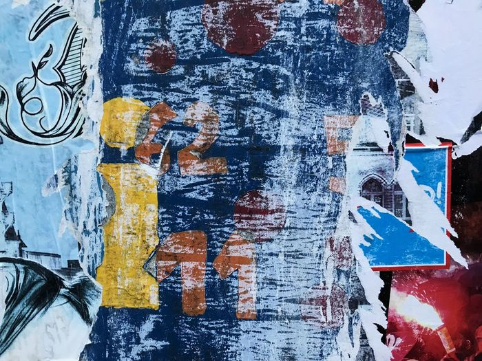 Graffiti Paint Architecture Textured  Backgrounds Close-up Built Structure No People Indoors  Multi Colored Day Painted Image Germany Nürnberg Street Streetart Blue