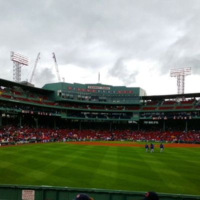 Wet and wonderful. Myfenway