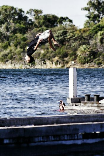 The Essence Of Summer jumping off the jetty Western Australia The Essence Of Summer- 2016 EyeEm Awards Jetty Jumping Summer ☀ Summer Summertime Showcase June Live For The Story Sommergefühle
