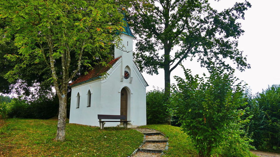 Chapel Church Kirke Stages Bavarian Landscape Architecture Bavarian Nature Belief Building Building Exterior Built Structure Day Green Color Growth House Nature No People Outdoors Place Of Worship Plant Religion Sky Spirituality stairways Tree
