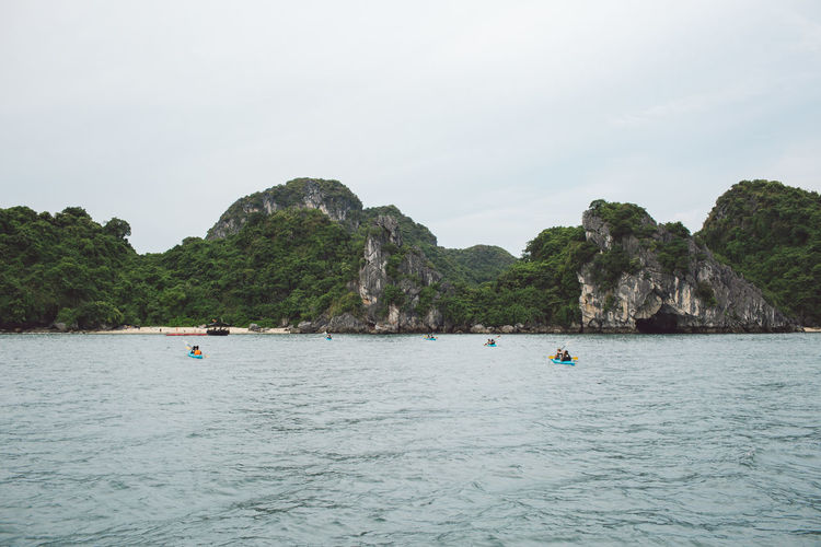 Scenic View Of Halong Bay By Mountains