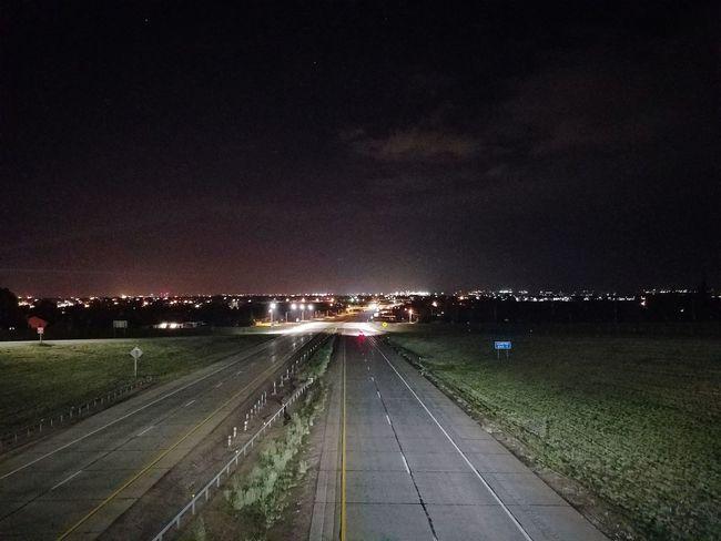 City at night Night Illuminated Road City Sky Cityscape No People Outdoors