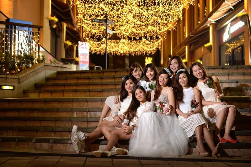 White Angelssssssss Hanging Out Beautiful Taking Photos HongKong Photography Photographer Agallery Check This Out Weddingparty Wedding Photography Weddingphotographer Angel Whitedress Beautiful Nature Bride Bridesmaid Wedding Party