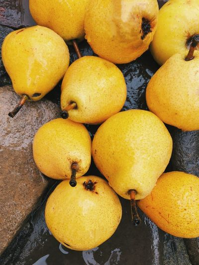 Yellow Food Food And Drink Healthy Eating Fruit Freshness High Angle View