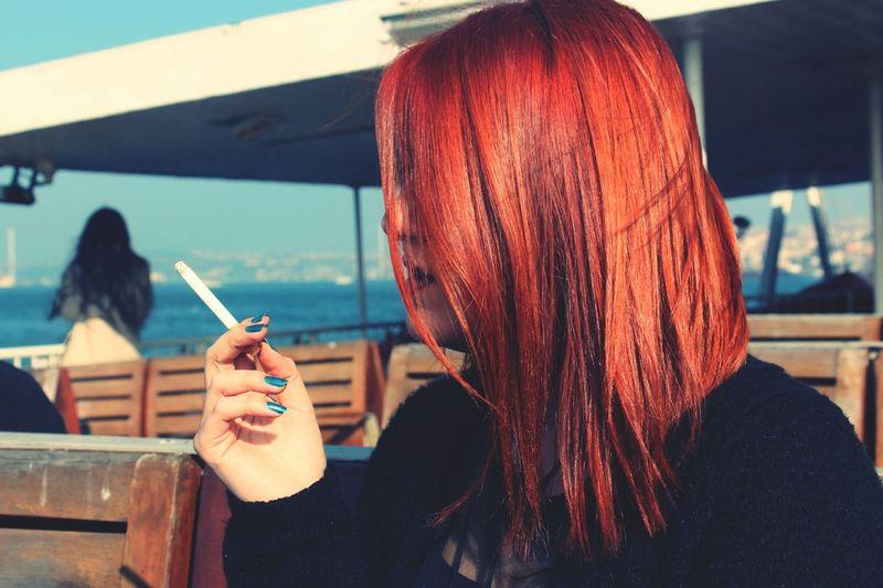 Orangehead Cigarette  Me Vapur Sea Sky Thanks♥