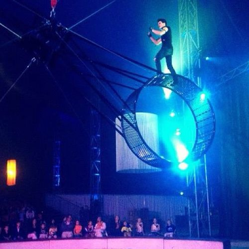 The Moment - 2014 EyeEm AwardsCircus Cirkusscott Circusartist blue show stockholm sweden instagood instamood instagramers iphone4s people life