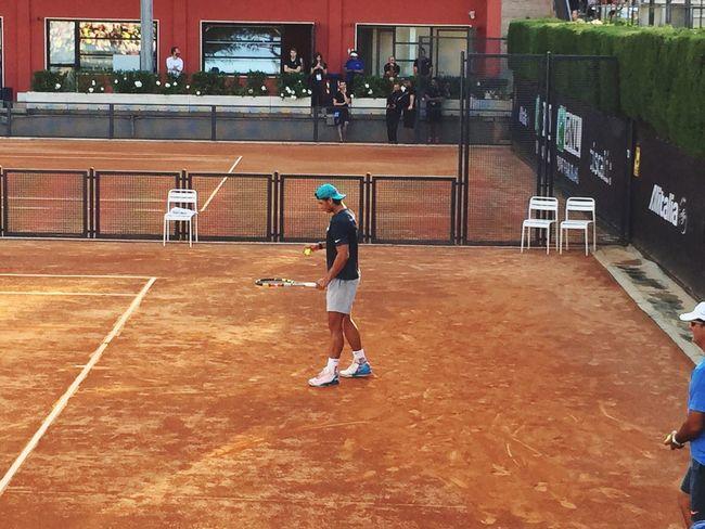 ILoveThisSport Rome Italy Internazionali Bnl Tenniscourt Tennis Rafael Nadal  Workout Hello World Tadaa Community