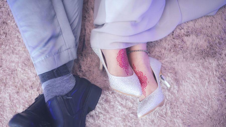 Wedding Photography Shoes Human Leg Close-up