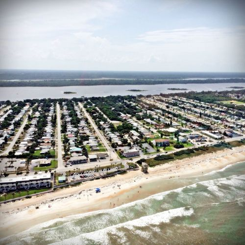 Daytona Aerial View Architecture Beauty In Nature Building Exterior City Cityscape Cloud - Sky Day High Angle View Horizon Over Water Nature No People Outdoors Scenics Sea Sky Water