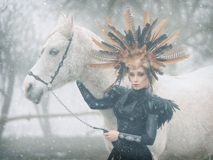 Winter is coming.... One Person Winter Snow Snowing Cold Temperature Clothing Real People Day Animal Wildlife Hairstyle EyeEm Best Shots EyeEmNewHere EyeEm Selects EyeEm Gallery Popular Photos Outdoors Beauty Young Women Extreme Weather Warm Clothing Front View Photography Photo Photooftheday Portrait