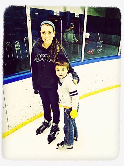 Ashlin and Owen ice skating