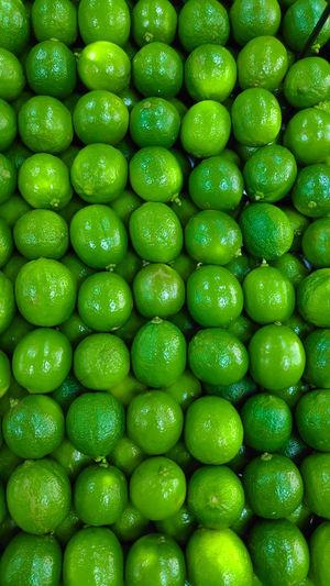 Full frame shot of green candies