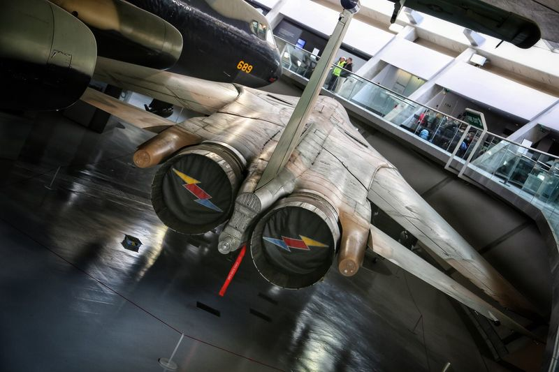 Duxford Imperial War Museum Aerial Combat Plane# Concorde Concorde Plane Day Duxford Imperial War Museum F22 Raptor Indoors  Machinery Mig21 Mode Of Transport Modern No People Plane Museum Planes Stealth Technology Transportation Transportation