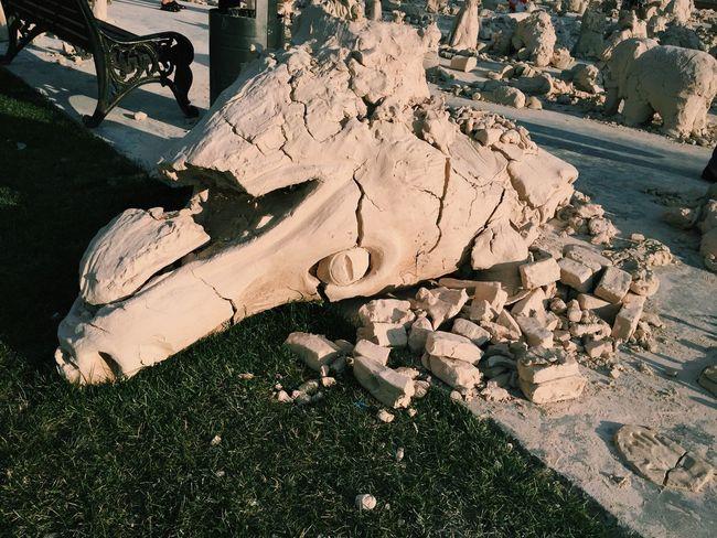 Dragon Game Of Thrones Sculpture Under My Feet Looking Down Broken Into Pieces Summertime Original Experiences