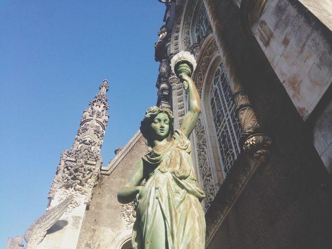 Maravillas de Portugal Bussaco Estatua Belleza Portugal